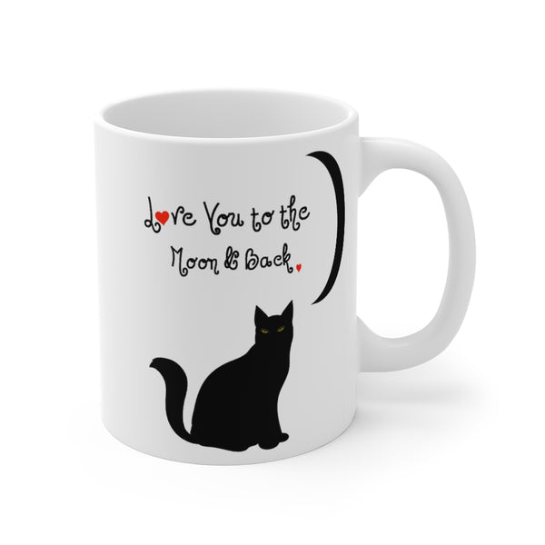 Custom Pet White Ceramic Mug 11 oz Love you to the moon and back Ca
