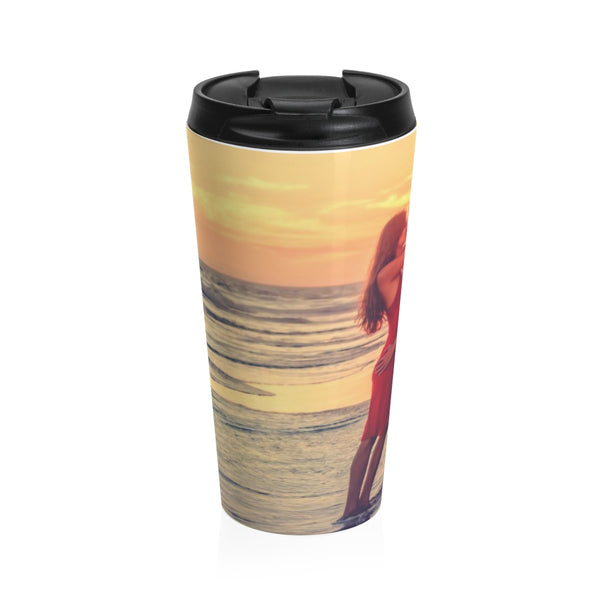 Romantic Couple Stainless Steel Travel Mug 15OZ Personalized & Customized Photo, Text and Logo