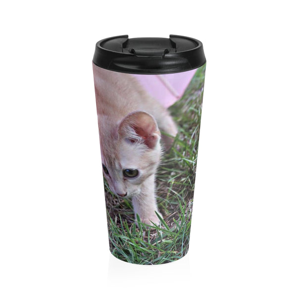 Custom Stainless Steel Travel Mug 15OZ  hello, Lucy