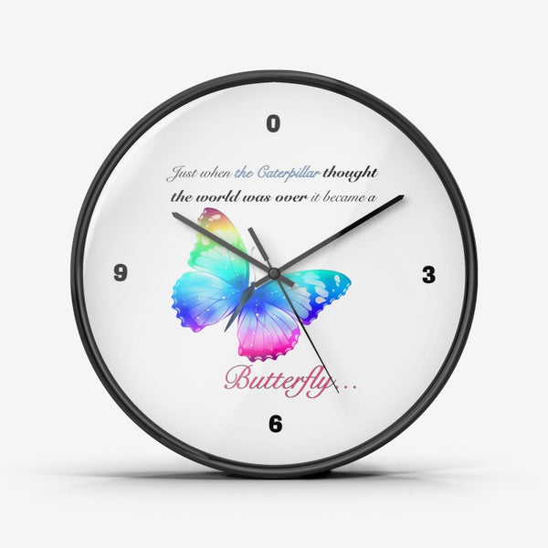 Just when the caterpillar through the world was over ..Wall Clock Silent Non Ticking Quality Quartz