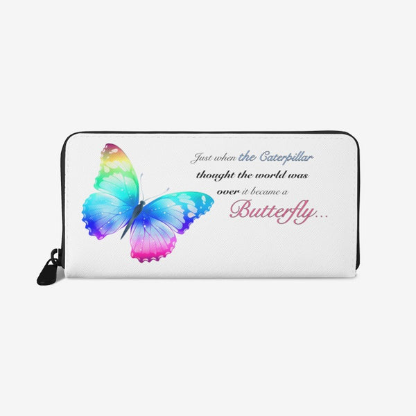 Just when the caterpillar through the world was over... Unisex premium PU Leather Wallet