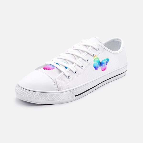 Butterfly Unisex Low Top Canvas Shoes