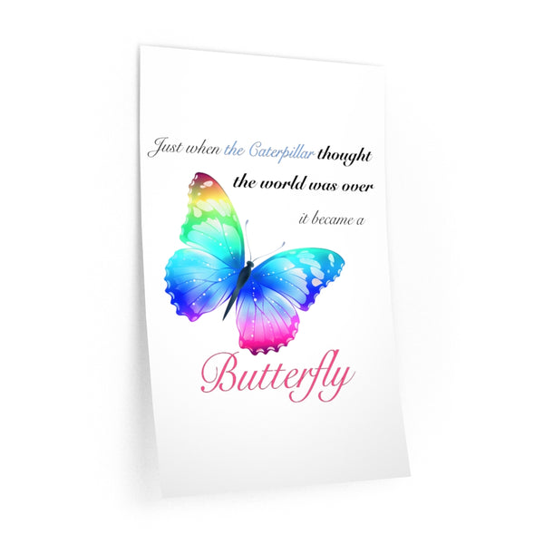 Just when the caterpillar through the world was over.. Wall Decals