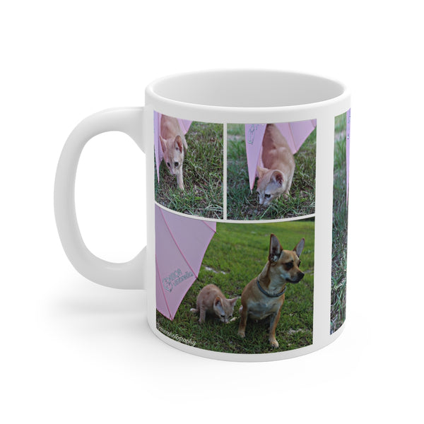 Custom Pet White Ceramic Mug 11oz  Hello, Lucy