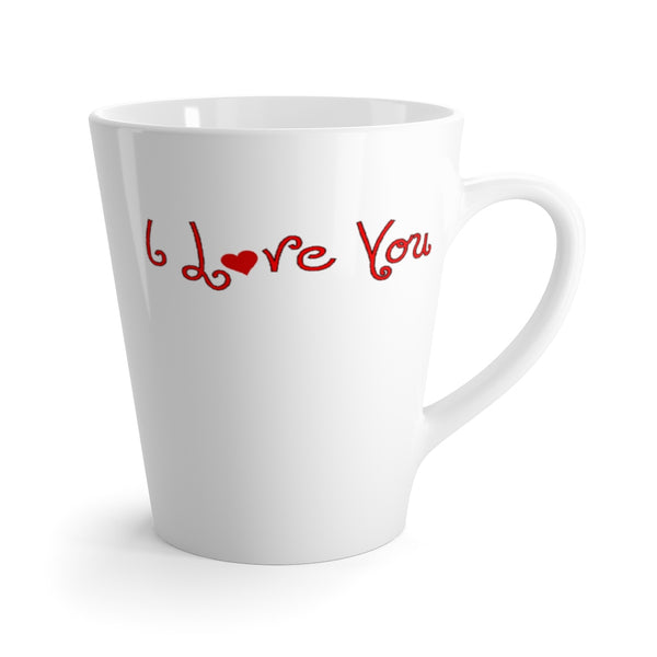 I Love You Latte mug