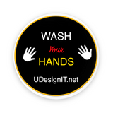 "Wash Your Hands Pin-Back Buttons 1.25"" Round"