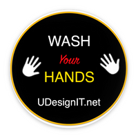 Wash Your Hands Pin-Back Buttons 2.25""