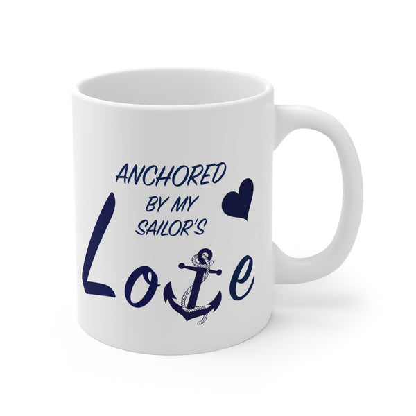 Mug 11oz Anchored by my Sailor Love