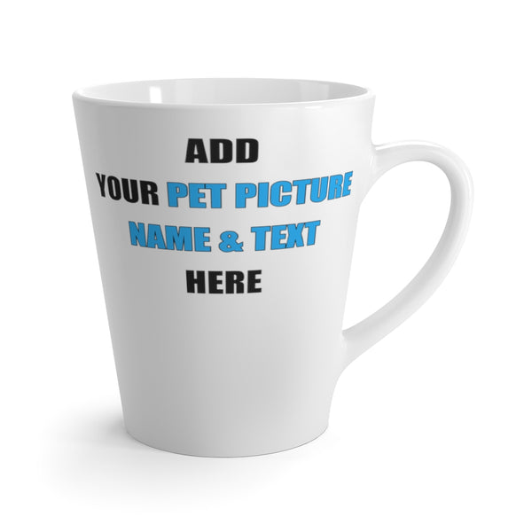 Custom Pet White Ceramic Latte Mug 12 oz