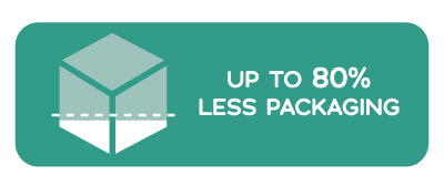 Less Packing. Less Plastic. Less Waste. @ Well Actually. Up to 80% Less Packaging