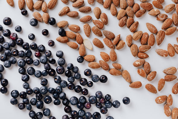 take a break eating consciously nuts avocado blueberries @ Well Actually