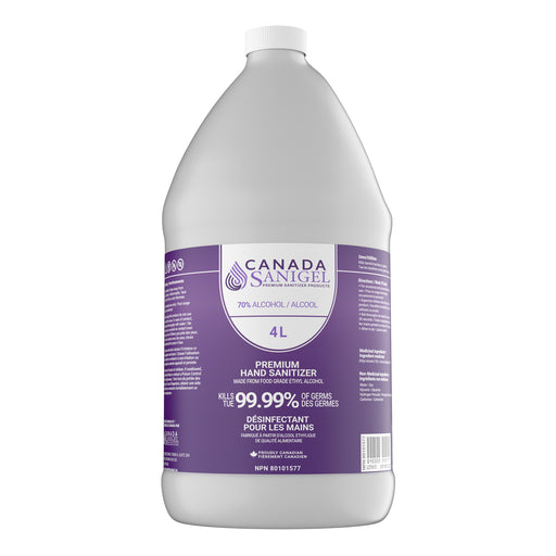 Canada Sanigel Premium Hand Sanitizer Gel | 4 Litre Bottle