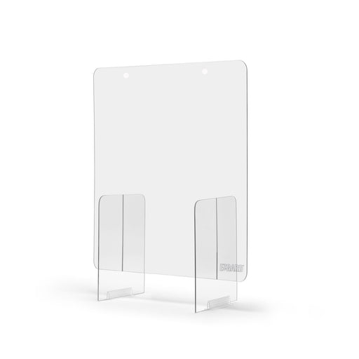 Plexiglass sneeze guard for counters