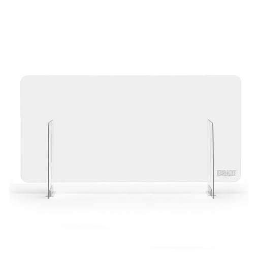 "DeskShield 47"" Protective Plexiglass Shield for Offices"