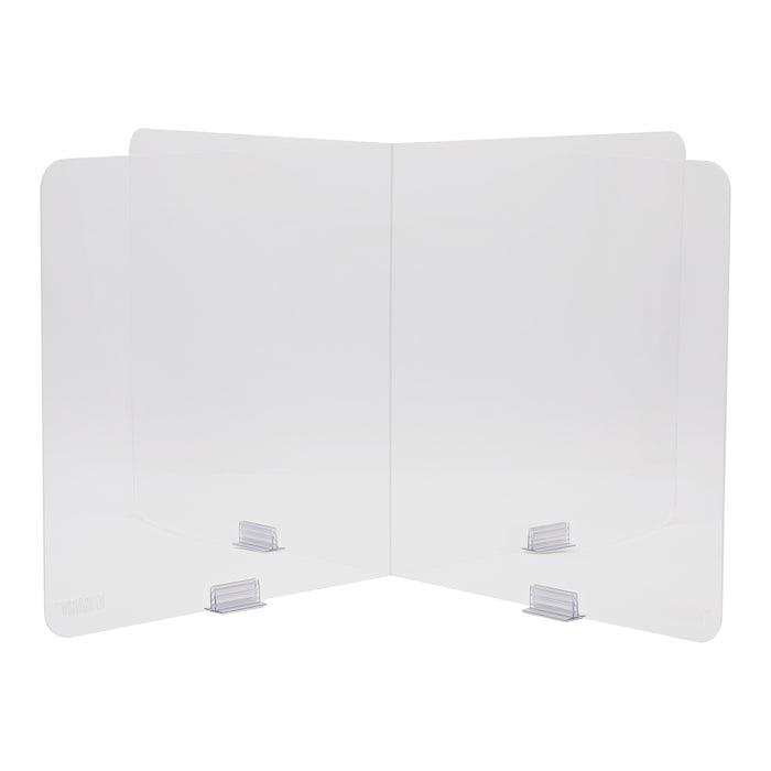 "Plexiglass Table Top Divider | Ideal for Schools and Boardrooms | TableShield 47"" by EZGARD"