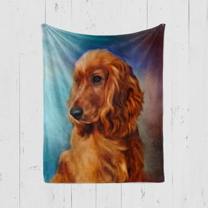 Pet Art Blanket - PAINT STYLE  - Upload Your Pets Photo - We Create Custom Art on a Blanket!