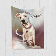 Load image into Gallery viewer, Pet Art Blanket - PAINT STYLE  - Upload Your Pets Photo - We Create Custom Art on a Blanket!
