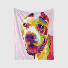Load image into Gallery viewer, Pet Art Blanket - POP STYLE  - Upload Your Pets Photo - We Create Custom Art on a Blanket!
