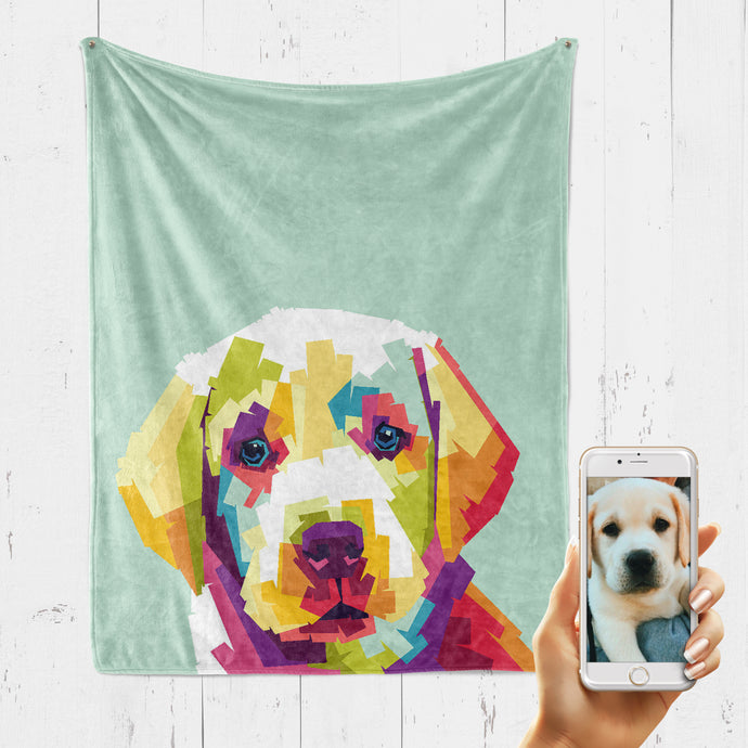 POP STYLE Pet Art Blanket, Upload Your Photos, We Design a Custom Blanket!