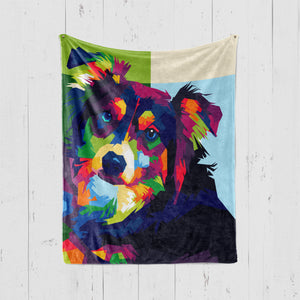 SPLASH STYLE Pet Art Blanket, Upload Your Photos, We Design a Custom Blanket!