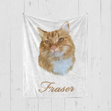 Load image into Gallery viewer, VECTOR STYLE Pet Art Blanket, Upload Your Photos, We Design a Custom Blanket!