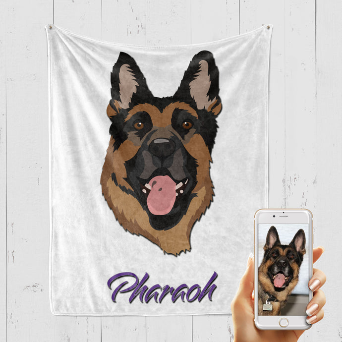 VECTOR STYLE Pet Art Blanket, Upload Your Photos, We Design a Custom Blanket!