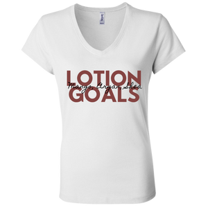 Lotion Goals Ladies' V-Neck T-Shirt