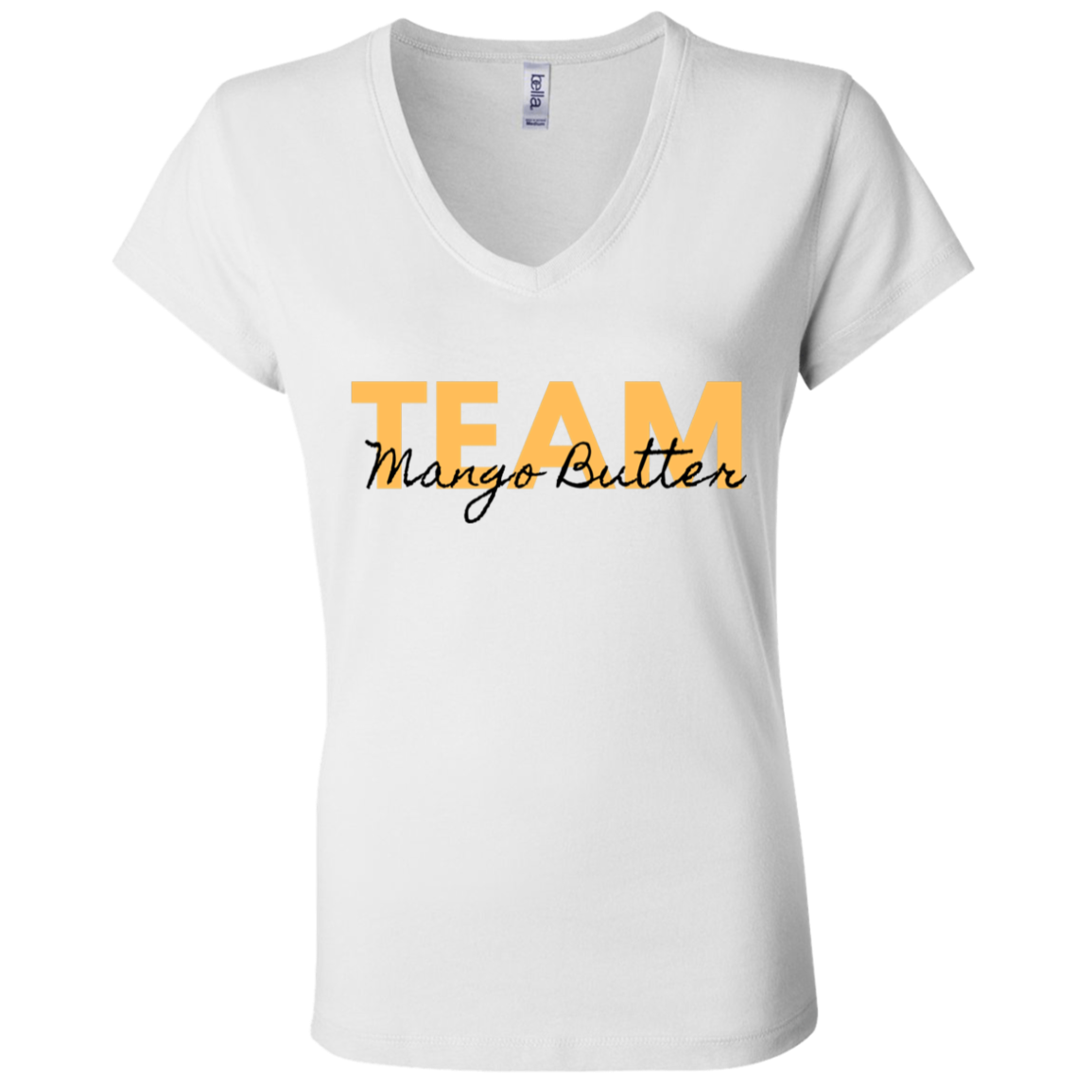 Team Mango Butter Ladies' V-Neck T-Shirt