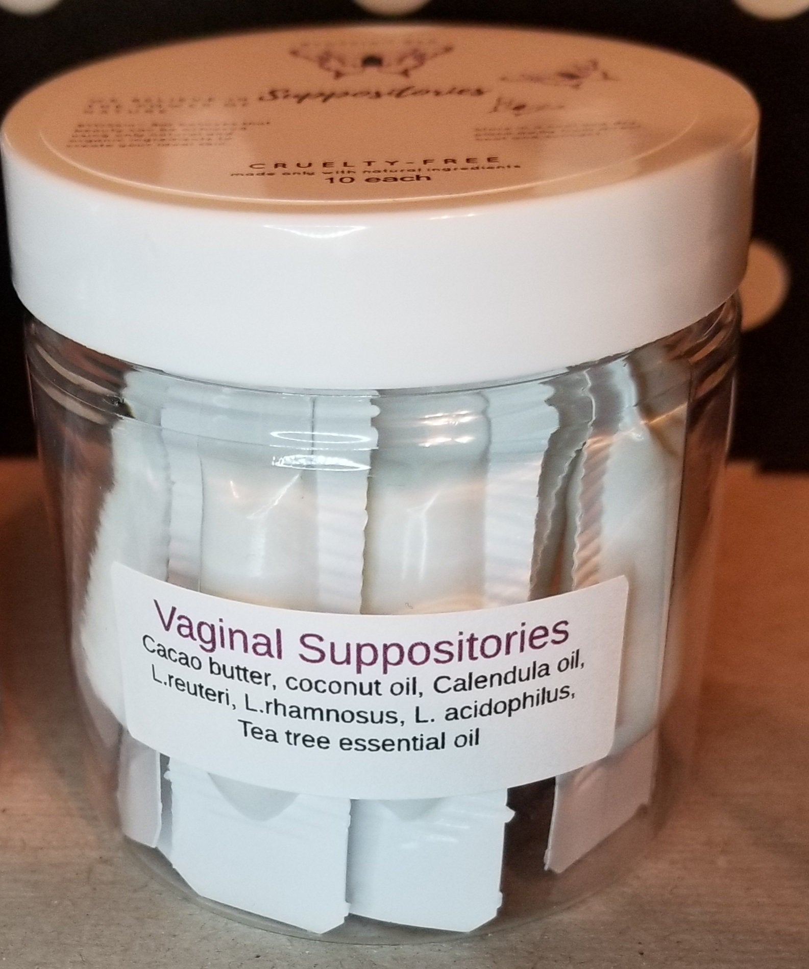 Probiotic Vaginal Suppository