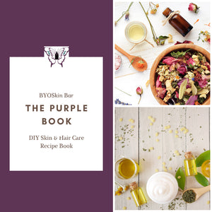The Purple Book: DIY Skin and Hair Care Recipe Book (A5 & Letter)
