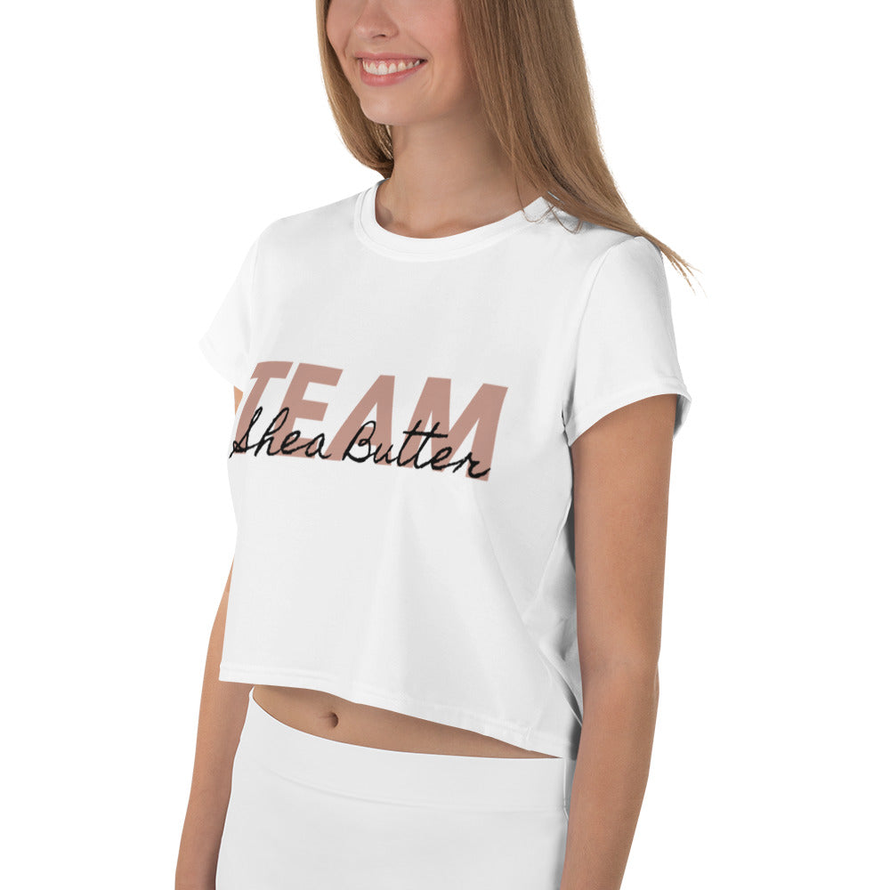 Team: Shea Butter Crop Tee - B.Y.O.Skin Bar