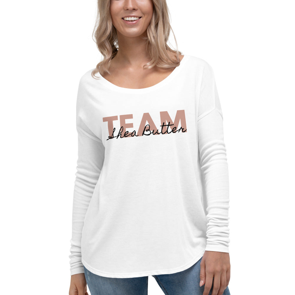 Team Shea Butter Long Sleeve Tee - B.Y.O.Skin Bar