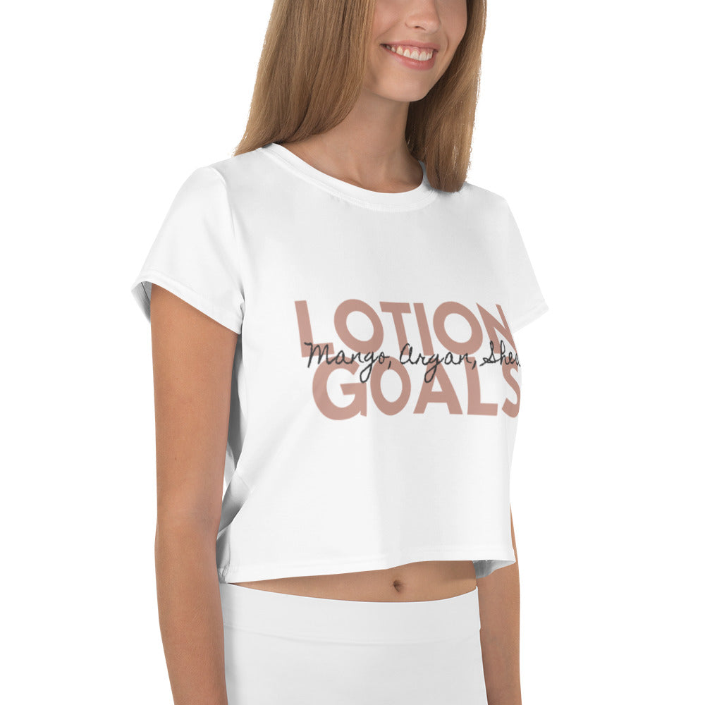 Lotion Goals Crop Tee - B.Y.O.Skin Bar