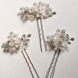 Pansy Hair Pins