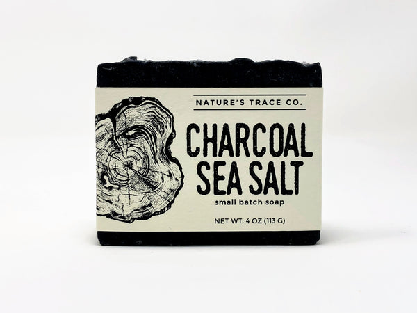 Nature's Trace Small Batch Soap- Charcoal Seasalt