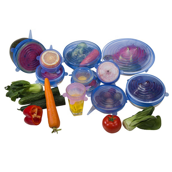 Reusable Silicon Lids (set of 6)