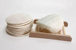 Loofah Pads for Face/Body - Set of 3
