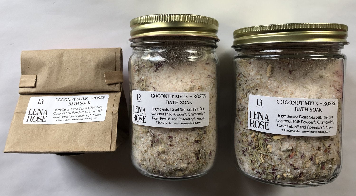 Lena Rose Beauty COCONUT MYLK + ROSES BATH SOAK