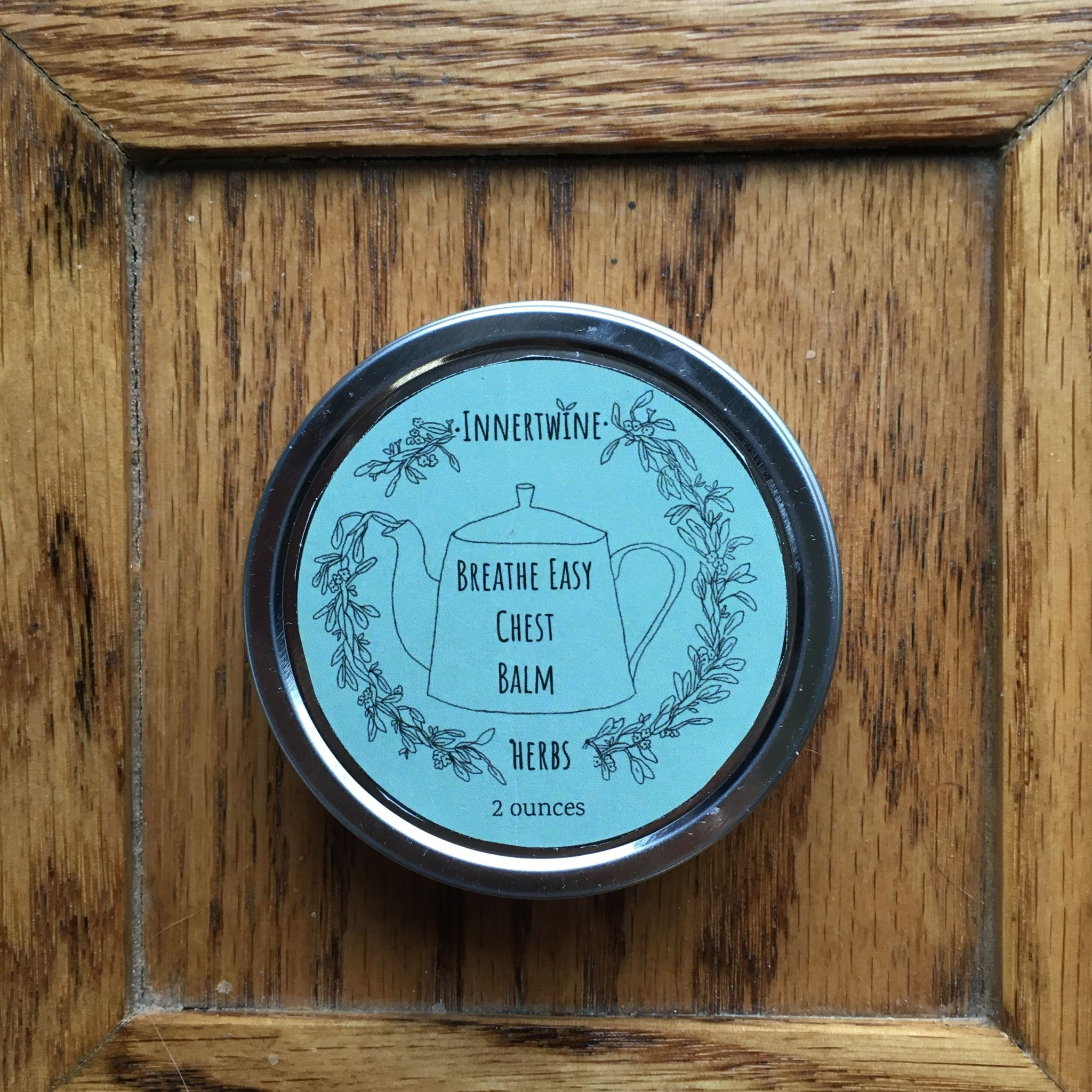 Innertwine Herbs - Breathe Easy Chest Balm (2 ounce tin)
