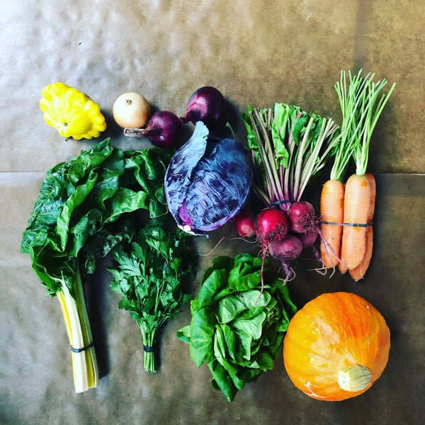 Fall Bi-weekly (4 week) CSA Vegetable Box ($35/week) Limited Free Delivery*