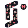 Custom Ribbonpink Socks - Custom Socks|Custom dog socks|Cat socks|Face Socks|Photo socks