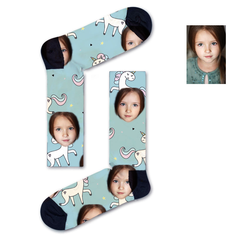 Custom Unicorn Kids Socks