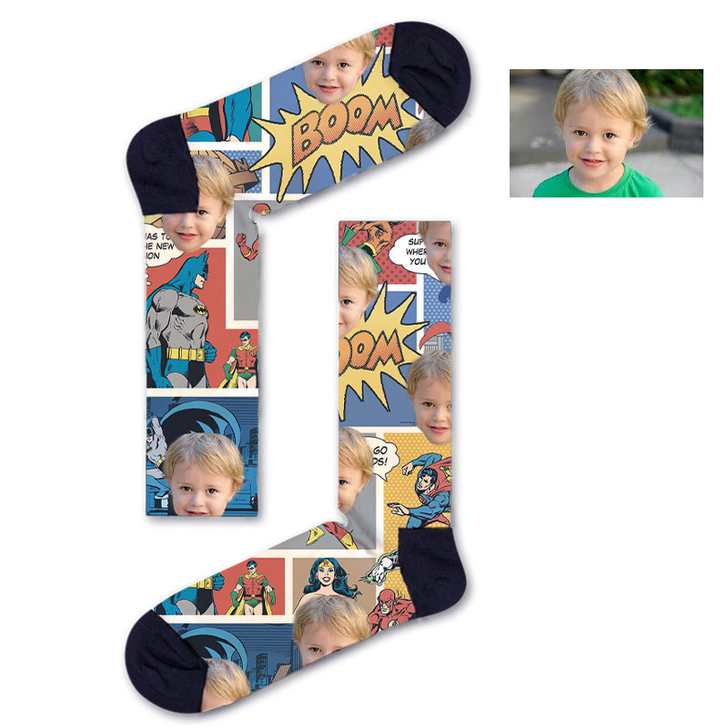 Custom Superhero Kids Socks
