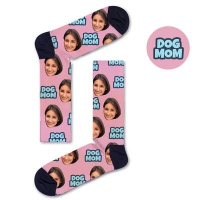 Custom DOG MOM Socks - Custom Socks|Custom dog socks|Cat socks|Face Socks|Photo socks