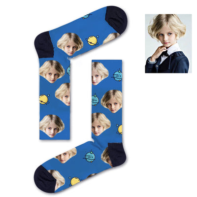 Custom Yellow and blue asteroids Socks