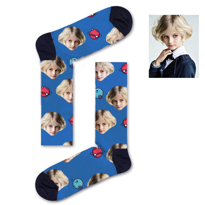 Custom Red and blue asteroids Socks