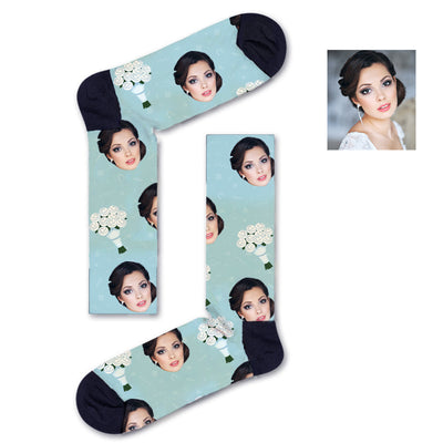 Custom Holding Flowers Socks