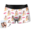 Custom Valentine's Day Face Boxer Shorts