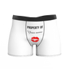Custom Boxer Shorts - Property of Yours - MyPhotoSocks