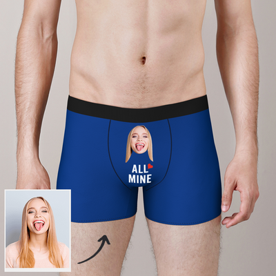 Custom All Mine Face Boxer Man Shorts